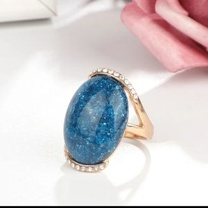 Oval Blue Ring